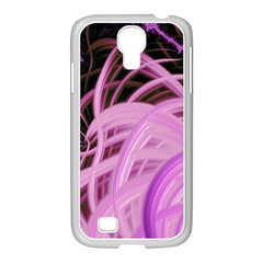 Purple Fractal Artwork Feather Samsung Galaxy S4 I9500/ I9505 Case (white)