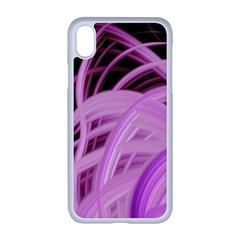 Purple Fractal Artwork Feather Apple Iphone Xr Seamless Case (white)