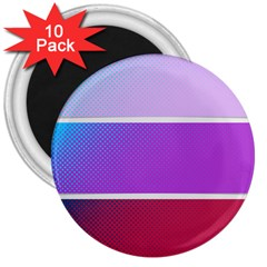 Pattern Banner Set Dot Abstract 3  Magnets (10 Pack)