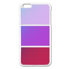 Pattern Banner Set Dot Abstract Apple Iphone 6 Plus/6s Plus Enamel White Case