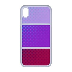 Pattern Banner Set Dot Abstract Apple Iphone Xr Seamless Case (white)