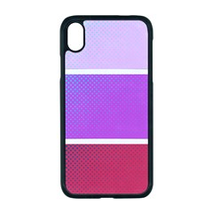 Pattern Banner Set Dot Abstract Apple Iphone Xr Seamless Case (black)