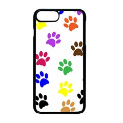 Pawprints Paw Prints Paw Animal Apple Iphone 8 Plus Seamless Case (black)