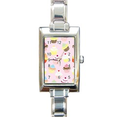Cupcakes Wallpaper Paper Background Rectangle Italian Charm Watch