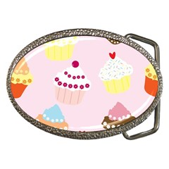 Cupcakes Wallpaper Paper Background Belt Buckles by Pakrebo