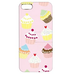 Cupcakes Wallpaper Paper Background Apple Iphone 5 Hardshell Case With Stand