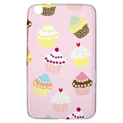 Cupcakes Wallpaper Paper Background Samsung Galaxy Tab 3 (8 ) T3100 Hardshell Case