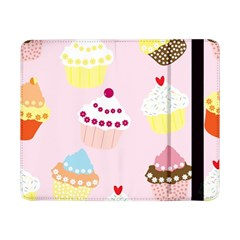 Cupcakes Wallpaper Paper Background Samsung Galaxy Tab Pro 8 4  Flip Case