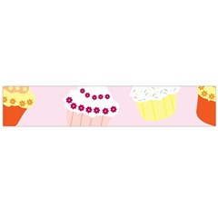 Cupcakes Wallpaper Paper Background Large Flano Scarf