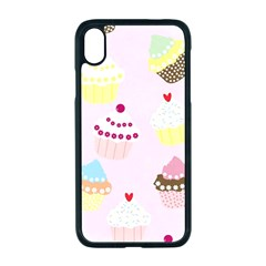 Cupcakes Wallpaper Paper Background Apple Iphone Xr Seamless Case (black)