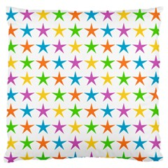 Star Pattern Design Decoration Large Flano Cushion Case (one Side)