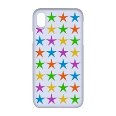 Star Pattern Design Decoration Apple Iphone Xr Seamless Case (white)