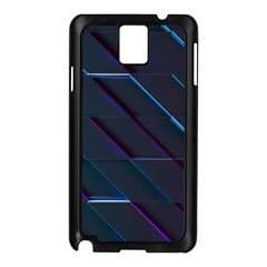 Glass Scifi Violet Ultraviolet Samsung Galaxy Note 3 N9005 Case (black)