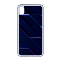 Glass Scifi Violet Ultraviolet Apple Iphone Xr Seamless Case (white)