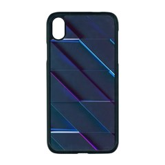 Glass Scifi Violet Ultraviolet Apple Iphone Xr Seamless Case (black)