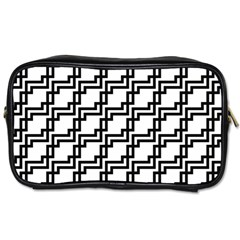 Pattern Monochrome Repeat Toiletries Bag (two Sides)