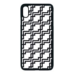 Pattern Monochrome Repeat Apple Iphone Xs Max Seamless Case (black) by Pakrebo