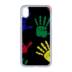 Handprints Hand Print Colourful Apple Iphone Xr Seamless Case (white)