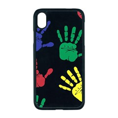 Handprints Hand Print Colourful Apple Iphone Xr Seamless Case (black)