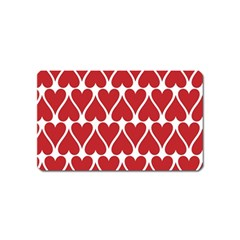 Hearts Pattern Seamless Red Love Magnet (name Card)