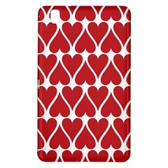 Hearts Pattern Seamless Red Love Samsung Galaxy Tab Pro 8 4 Hardshell Case by Pakrebo