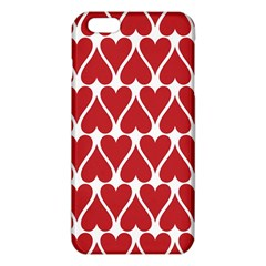 Hearts Pattern Seamless Red Love Iphone 6 Plus/6s Plus Tpu Case
