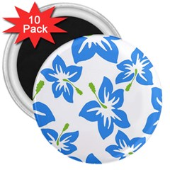 Hibiscus Wallpaper Flowers Floral 3  Magnets (10 Pack)