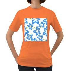 Hibiscus Wallpaper Flowers Floral Women s Dark T Shirt