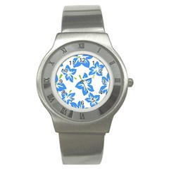 Hibiscus Wallpaper Flowers Floral Stainless Steel Watch