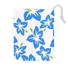 Hibiscus Wallpaper Flowers Floral Drawstring Pouch (xl)