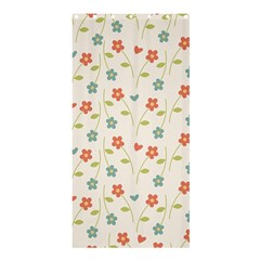 Floral Pattern Wallpaper Retro Shower Curtain 36  X 72  (stall)