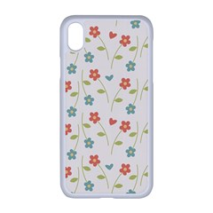 Floral Pattern Wallpaper Retro Apple Iphone Xr Seamless Case (white)