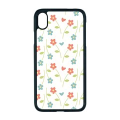 Floral Pattern Wallpaper Retro Apple Iphone Xr Seamless Case (black)