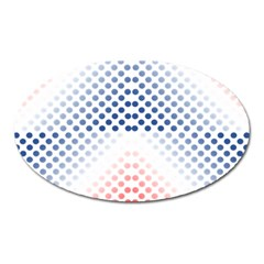 Dots Pointillism Abstract Chevron Oval Magnet by Pakrebo