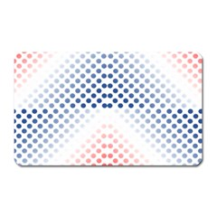 Dots Pointillism Abstract Chevron Magnet (rectangular) by Pakrebo