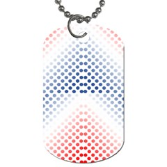 Dots Pointillism Abstract Chevron Dog Tag (one Side)