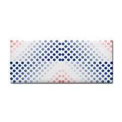 Dots Pointillism Abstract Chevron Hand Towel