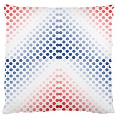 Dots Pointillism Abstract Chevron Large Cushion Case (two Sides)