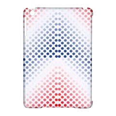 Dots Pointillism Abstract Chevron Apple Ipad Mini Hardshell Case (compatible With Smart Cover)