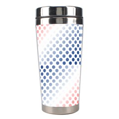 Dots Pointillism Abstract Chevron Stainless Steel Travel Tumblers