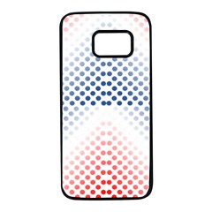 Dots Pointillism Abstract Chevron Samsung Galaxy S7 Black Seamless Case by Pakrebo