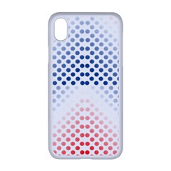 Dots Pointillism Abstract Chevron Apple Iphone Xr Seamless Case (white)