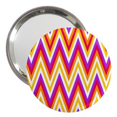 Chevrons Stripes Pattern Geometric 3  Handbag Mirrors by Pakrebo