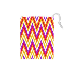 Chevrons Stripes Pattern Geometric Drawstring Pouch (small)