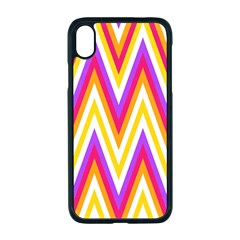 Chevrons Stripes Pattern Geometric Apple Iphone Xr Seamless Case (black)