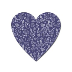Tropical Pattern Heart Magnet by Valentinaart
