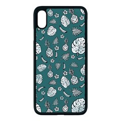Tropical Pattern Apple Iphone Xs Max Seamless Case (black) by Valentinaart