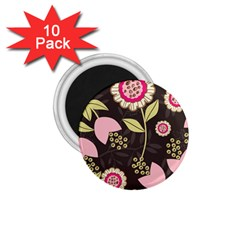 Flowers Wallpaper Floral Decoration 1 75  Magnets (10 Pack)  by Pakrebo