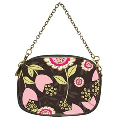 Flowers Wallpaper Floral Decoration Chain Purse (two Sides)