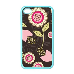 Flowers Wallpaper Floral Decoration Apple Iphone 4 Case (color) by Pakrebo